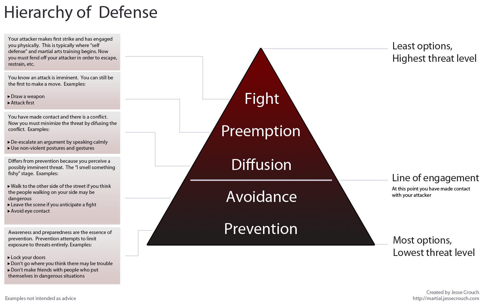 hierarchy of defense infographic
